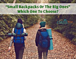 Small Backpacks Or The Big Ones: Which One To Choose?