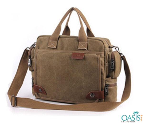 Brown Stylish Messenger Bag Wholesale