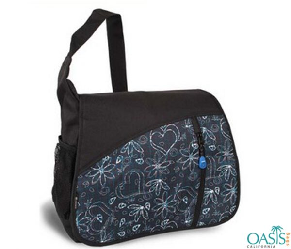 Black Stylish Messenger Bag Wholesale