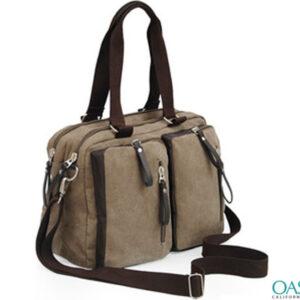 Light Brown Canvas Bag Wholesale