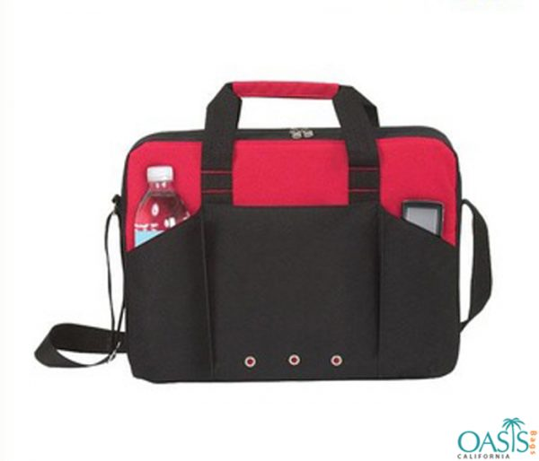 Executive Briefcase in Red and Black Wholesale