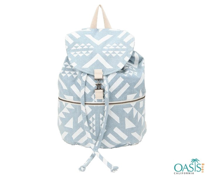 Wholesale SkyWholesale Sky blue and white abstract printed backpack manufacturer and supplier in USA, Australia, Canada blue and white abstract printed backpack manufacturer and supplier in USA, Australia, Canada