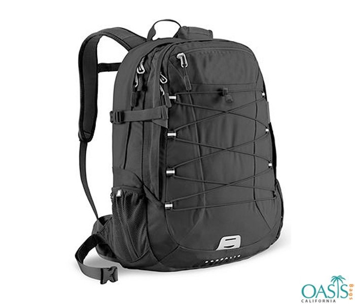 Sporty Black Backpack for Men Wholesale