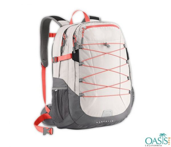 White and Grey Preppy Backpack Wholesale