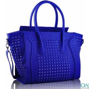 Bulk Aerofloat Blue Self Textured Ladies Bags Wholesale Supplier in USA, Australia, Canada, China