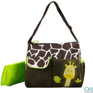 Animal Print Giraffe Motif Diaper Bag Wholesale