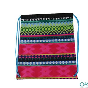 Aztec Print Cotton Drawstring Bag Wholesale