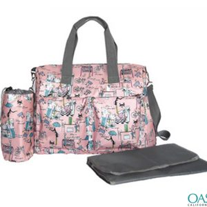 Baby Pink Soft Floral Diaper Bags Wholesale