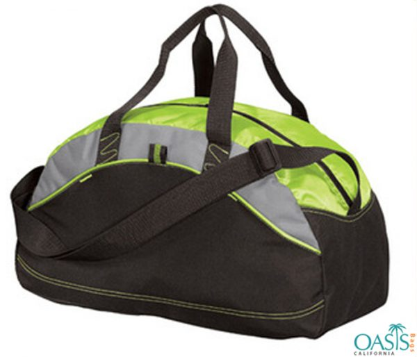 Black and Neon Combo Sporty Travel Bag Wholesale