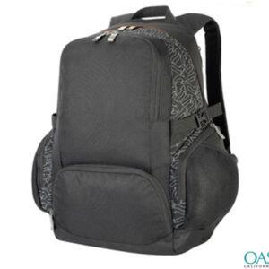Black and Printed Grey Duffel Bag Wholesale