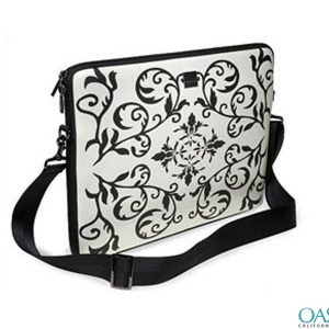 Black and White Ornamental Laptop Bag Wholesale