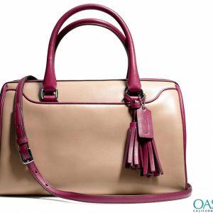 Bulk Bouncing Beige and Maroon Ladies Bags Wholesaler in USA, Australia, Canada, China