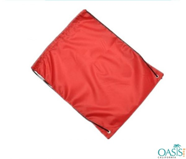 Bright Red Drawstring Promo Bag Wholesale
