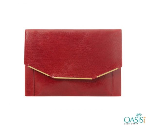 Classic Leather Red Clutch Bag Wholesale