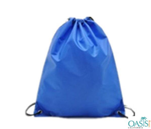 Cobalt Blue Duffle Drawstring Bag Wholesale