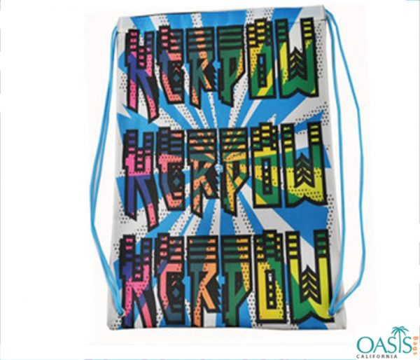 Colorful Sporty Drawstring Bags Wholesale