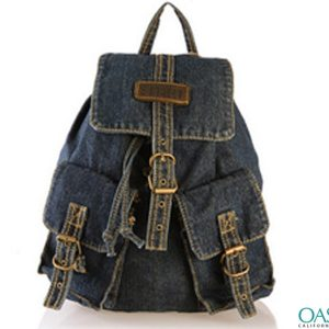 Cowboy Dark Blue Jean Backpack Wholesale
