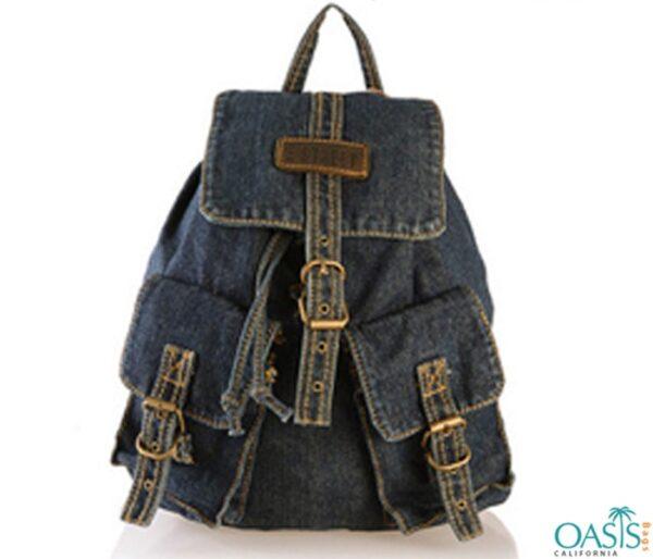 Cowboy Dark Blue Jean Backpack Wholesale