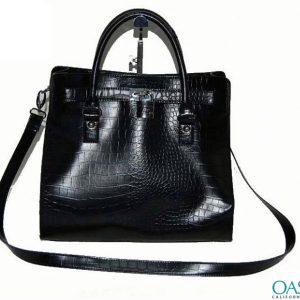 Croc Style Ladies Ebony Handbag Wholesale