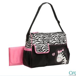 Ebony Ivory Diaper Bag with Zebra Motif Wholesale