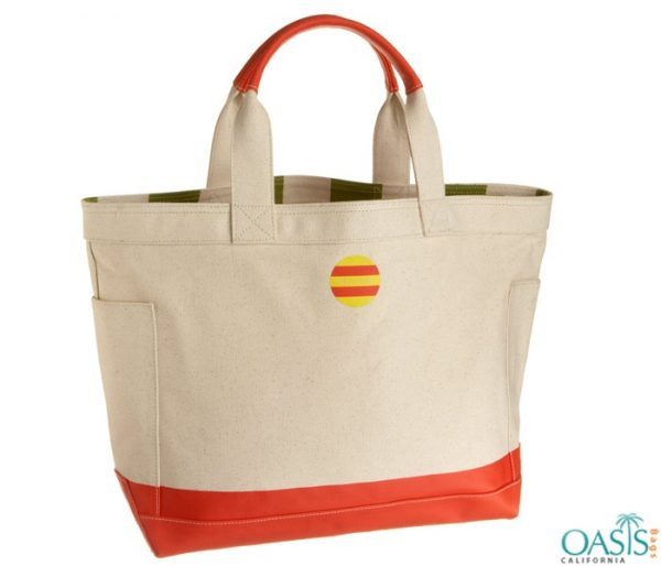 Ecru Orange Tote Bag Wholesale