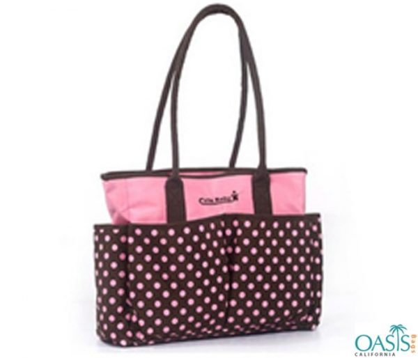 Fashionable Double Colored Compartment Diaper Bags Wholesale