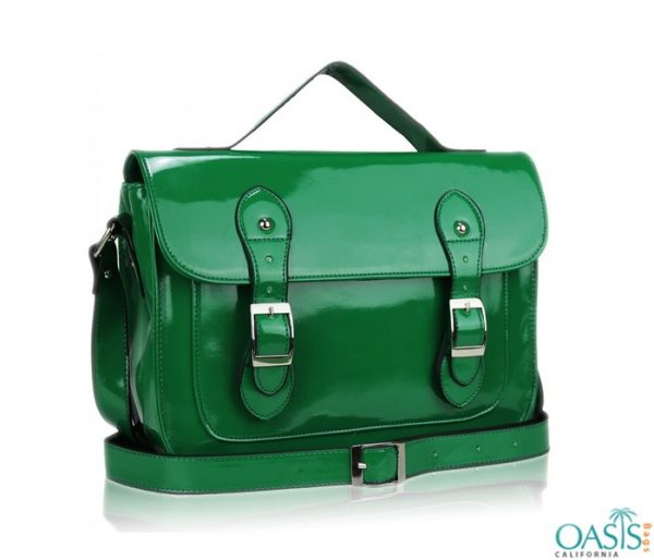 Wholesale Glossy Green Satchel Bag Manufacturer and Supplier in USA, Canada, Australia