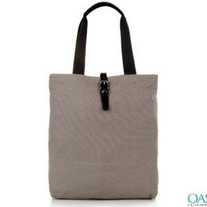 Grey and Black Tote Bag Wholesale