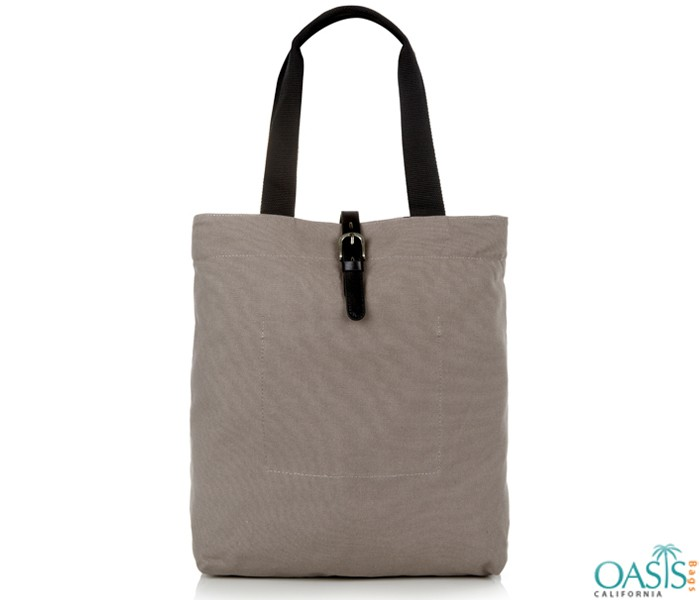 Grey and Black Tote Bag Wholesale