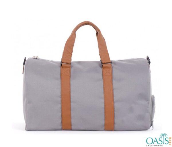 Bulk Grey and Orange Custom Private Label Gym Bags Wholesale Manufacturer in USA, Canada, Australia