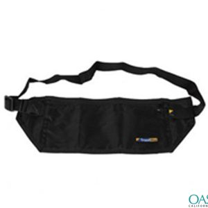 High Designer Black Waist Pouch Wholesale