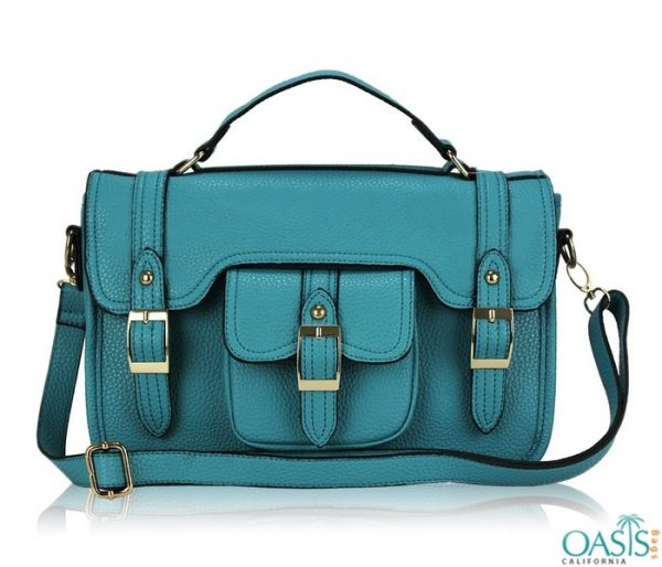 Bulk lovely blue messenger Custom Private Label satchel bags wholesale manufacturer in USA, Canada, Australia