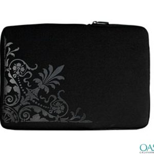 Oriental Black Laptop Zip Bag Wholesale
