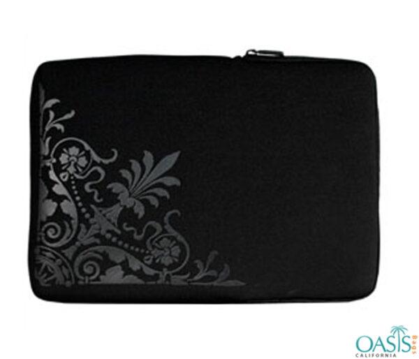 Oriental Black Laptop Zip Bag Wholesale
