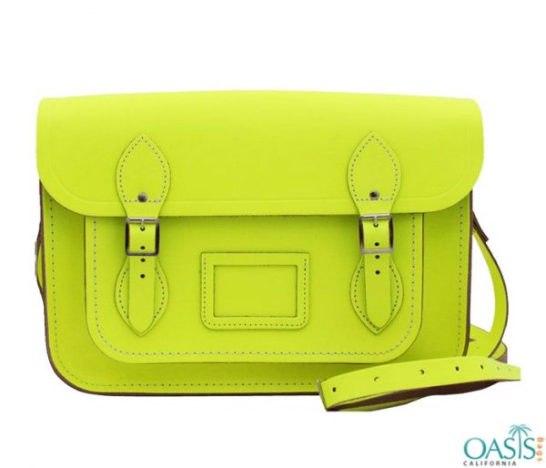 Bulk Pop Green Custom Private Label Satchel Bags Wholesale Manufacturer in USA, Canada, Australia