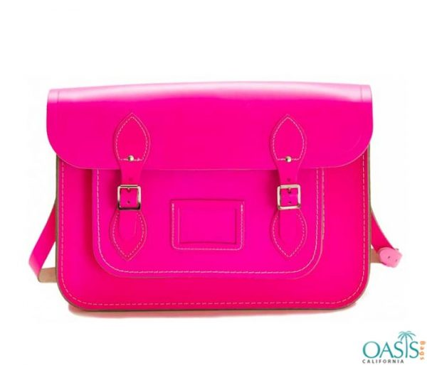 Wholesale Pop Pink Messenger Bag Manufacturer and Supplier in USA, Canada, Australia