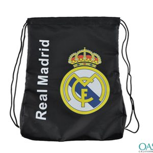 Real Madrid Black Drawstring Bag Wholesale