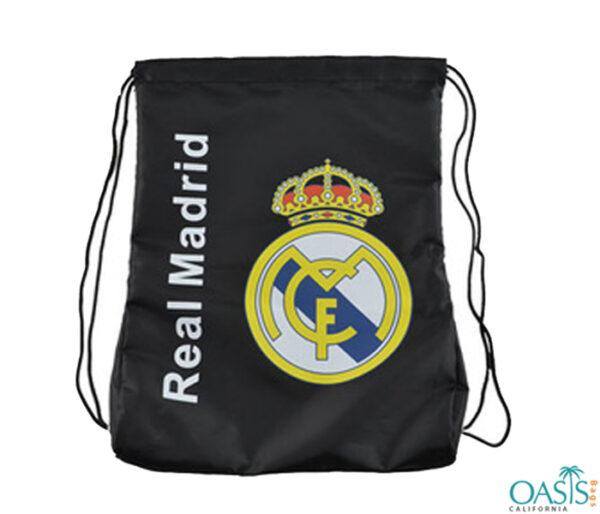 Real Madrid Black Drawstring Bag Wholesale
