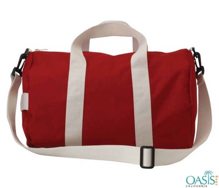 Bulk Red and White Custom Private Label Gym Bags Wholesale Manufacturer in USA, Canada, Australia
