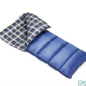 Side Zipper Checkered Sleeping Bag Wholesale