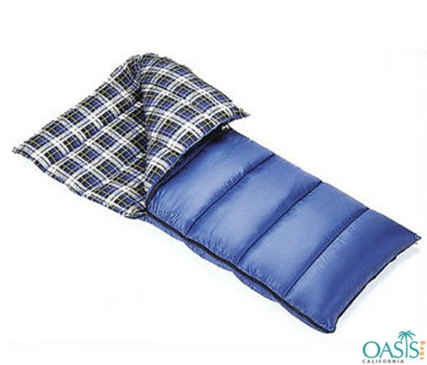 Side Zipper Checkered Sleeping Bag Wholesale