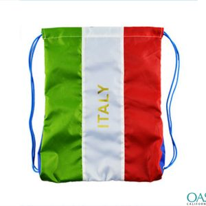 Smart Italian Flag Drawstring Bag Wholesale