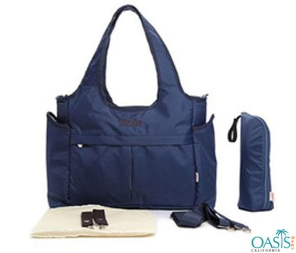 Smart Navy Broad Belt Diaper Bag Wholesale