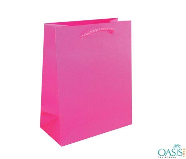 Bulk Smart Pink Custom Private Label Gift Bags Wholesale Manufacturer in USA, Canada, Australia