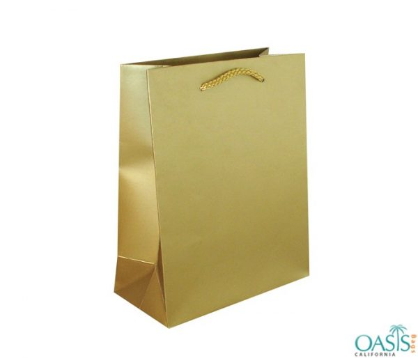 Bulk Smooth Golden Custom Private Label Gift Bags Wholesale Manufacturer