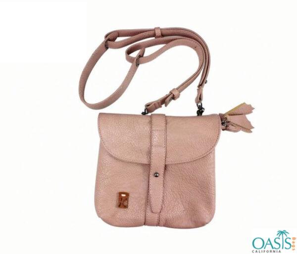 Soft Velvet Touch Baby Pink Handbag Wholesale