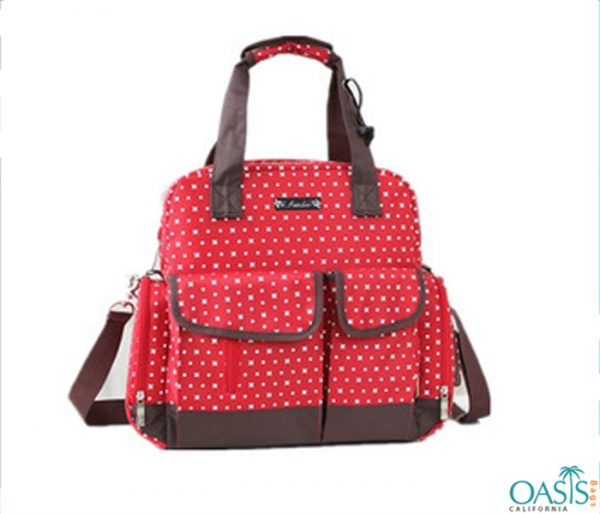Bubbly Pink Dotty Baby Diaper Bags Wholesale