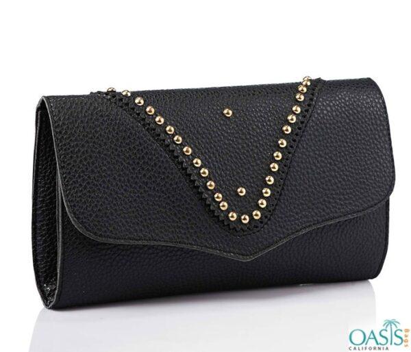 Studded Black Women's Clutch Bag Wholesale