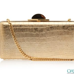 Stunning Golden Box Clutch Bag Wholesale