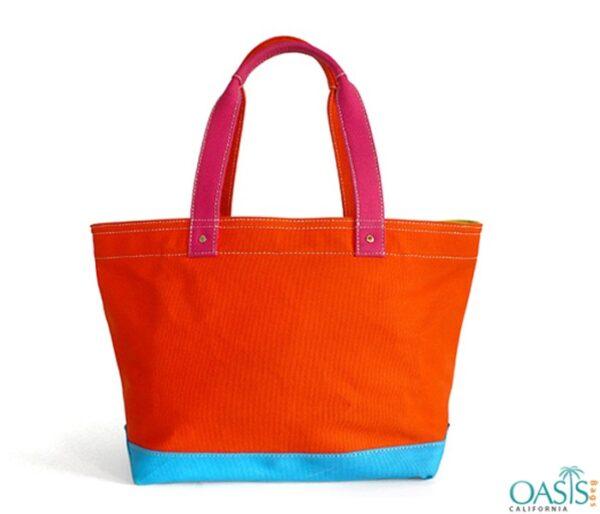 Tangerine Orange Tote Bag Wholesale